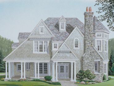 European House Plan, 054H-0092