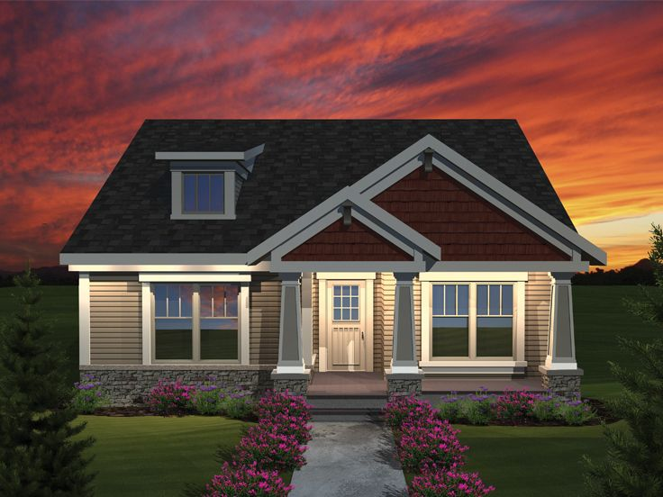 Bungalow Home Plan, 020H-0290