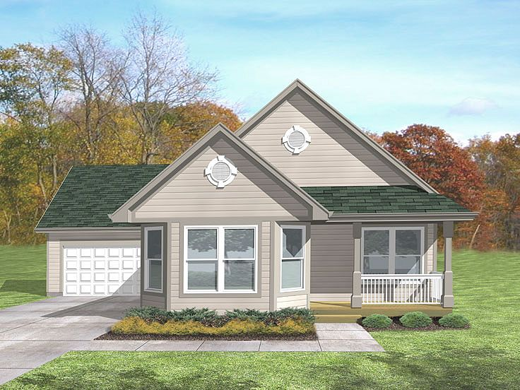 Ranch House Plan, 016H-0052