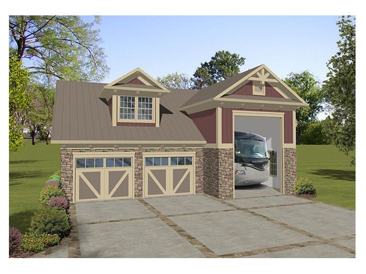 Rv garage plans rv garage plan with workshop and for Rv garage plans and designs