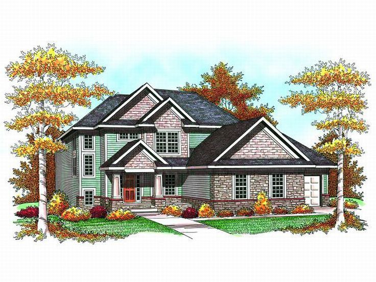 2-Story House Design, 020H-0182