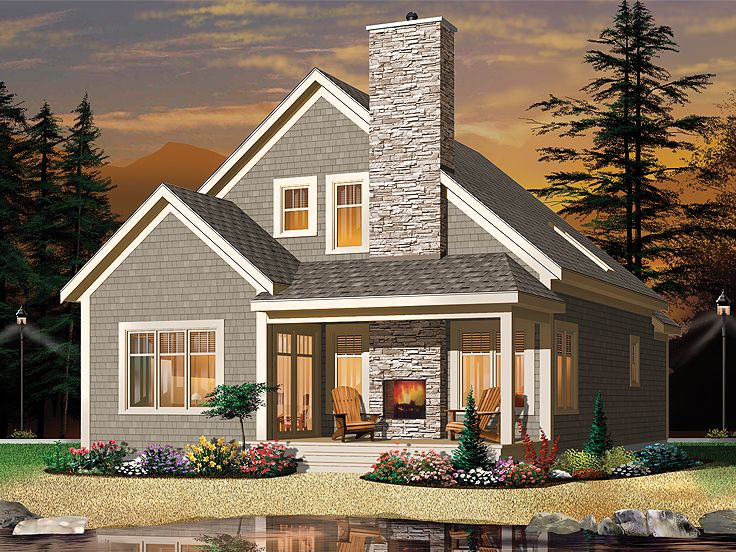 Narrow Lot Home Plans 2 Story Mountain House Plan Fit A