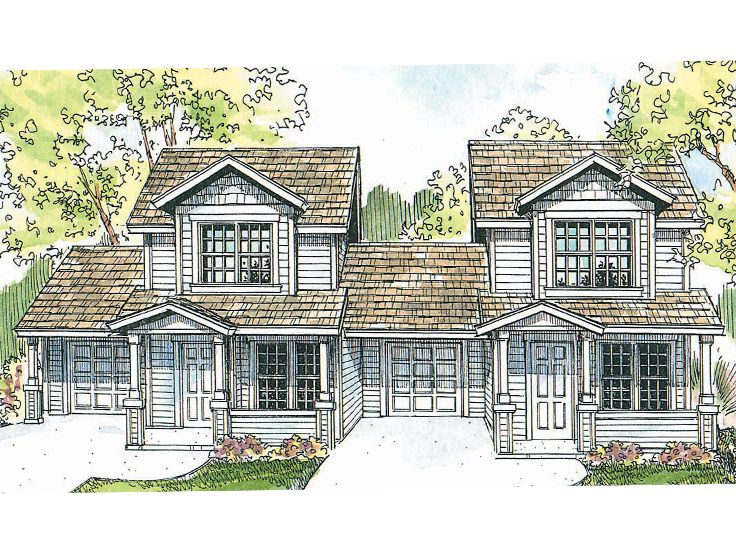 Multi Family House Plans colonial multi family plan 65180 level two Plan 051m 0005