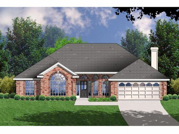 Ranch Home Plan, 015H-0077