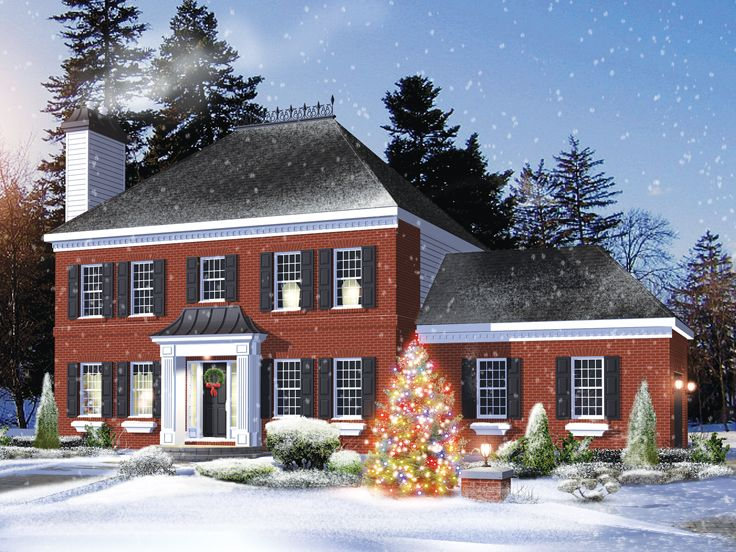 Colonial House Plan, 072H-0243