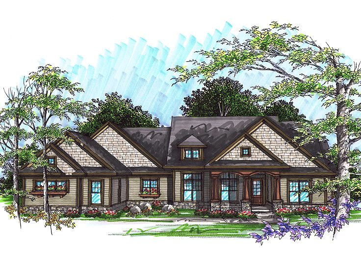 Ranch House Plan, 020H-0245