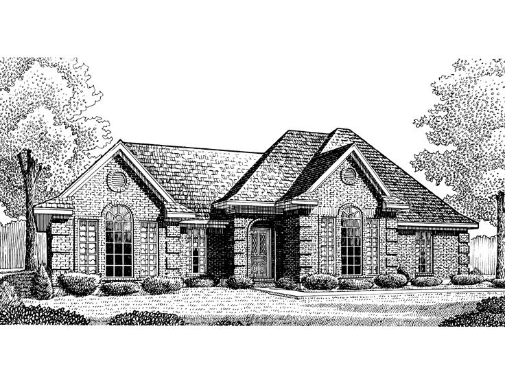 Traditional House Plan, 054H-0108