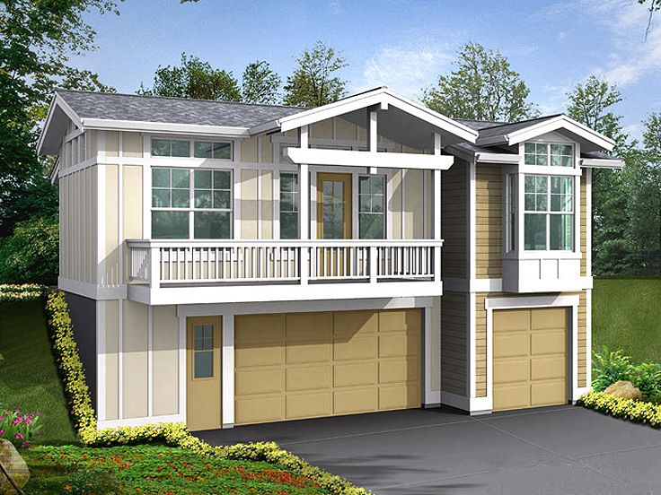Garage Apartment Plans | Three-Car Garage Apartment Plan Design ...