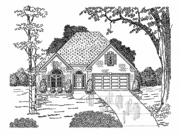 Ranch Home Plan, 019H-0026