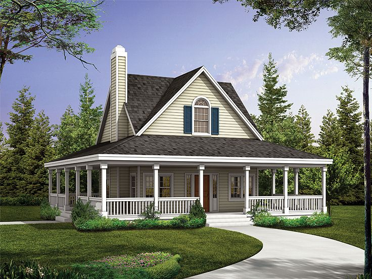 Country Cottage House Plans. Country House Plan, 057h 0040 Cottage Plans