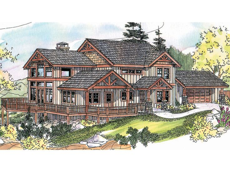 House plans upward sloping lot pomegranate pie for Waterfront home plans sloping lots