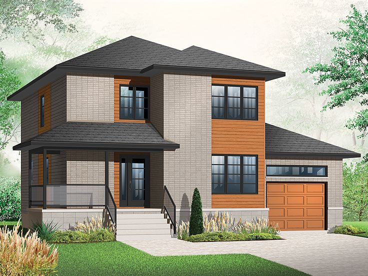 Affordable House Plans | Contemporary Two-Story Affordable ...