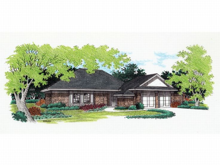Ranch House Plan, 021H-0014