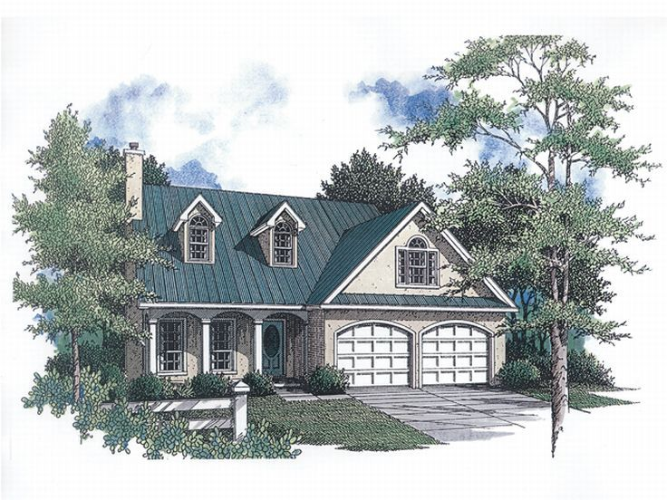 Two-Story House Plan, 004H-0048