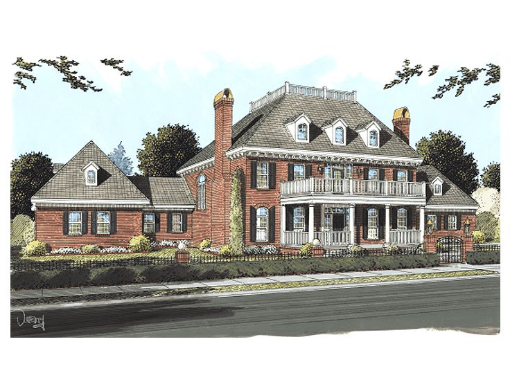 Plantation house plans luxurious two story southern home for Historic plantation house plans
