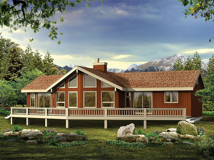 awesome lakefront cottage plans canada #3: Plan 032H-0053