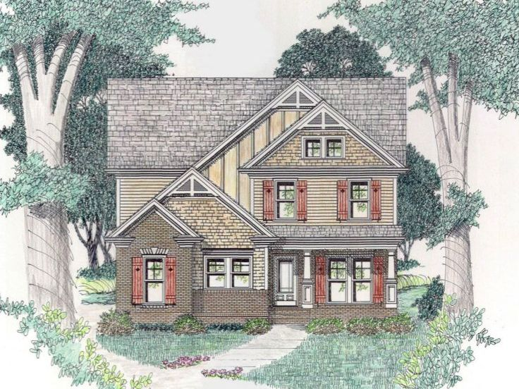 Narrow Lot House Plan, 045H-0058
