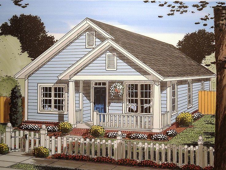 Narrow Lot House Plan, 059H-0153