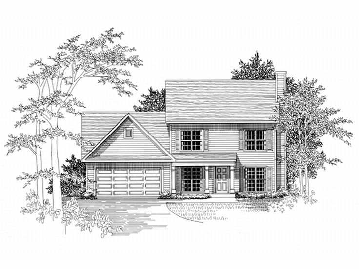 2-Story House Plan, 019H-0078