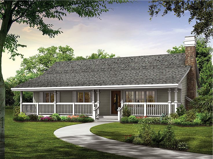 Small Ranch House Plans 157 1451 main image for house plan 12659 Plan 032h 0075