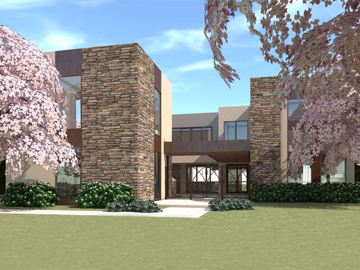Contemporary House Plan, 052H-0090
