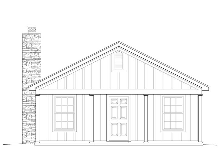 Cabin House Plan, 062H-0001