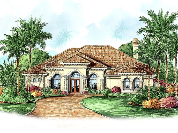 Mediterranean Home Plan, 040H-0010