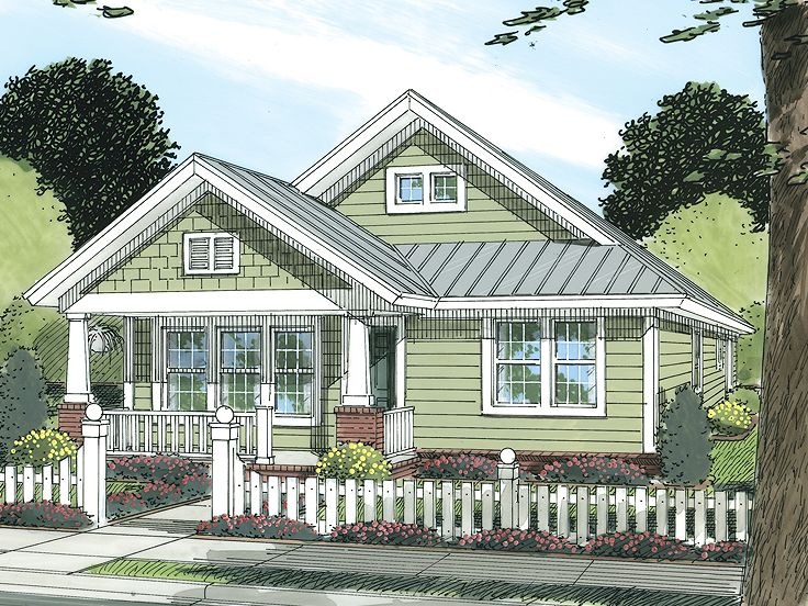 Bungalow Home Plan, 059H-0105