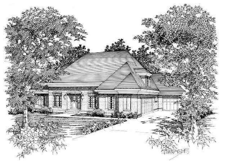 Two-Story House Plan, 061H-0109