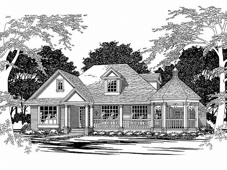 Country Home Plan, 036H-0011