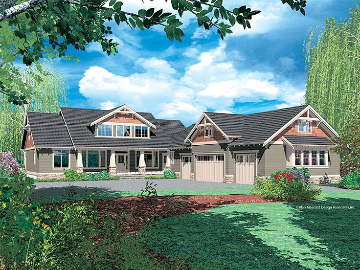 Luxury Craftsman House, 034H-0215