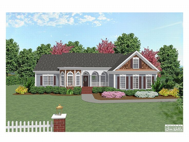 Ranch Home Plan, 007H-0048