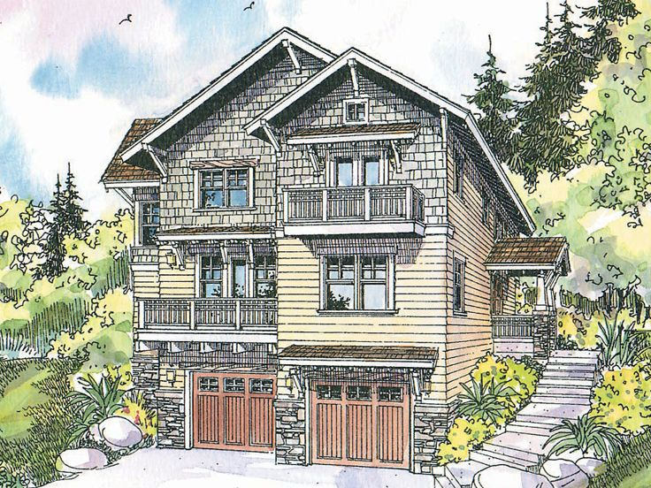 Craftsman House Plan, 051H-0121