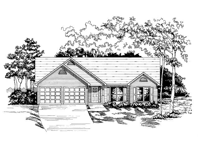 Ranch House Plan, 019H-0018