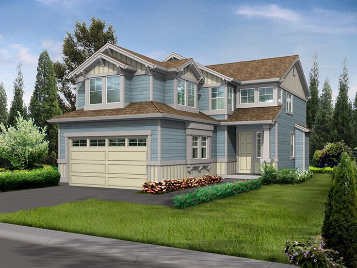 Narrow Lot Home Plan, 035H-0003