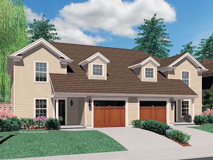 Duplex Home Plan, 034M-0016