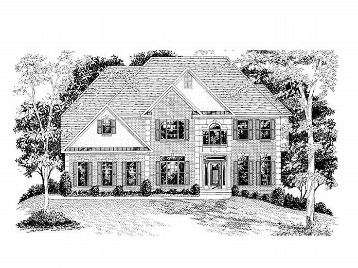Two-Story Home Design, 007H-0097