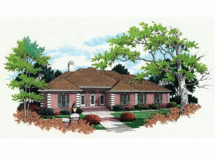 Ranch House Plan, 021H-0168