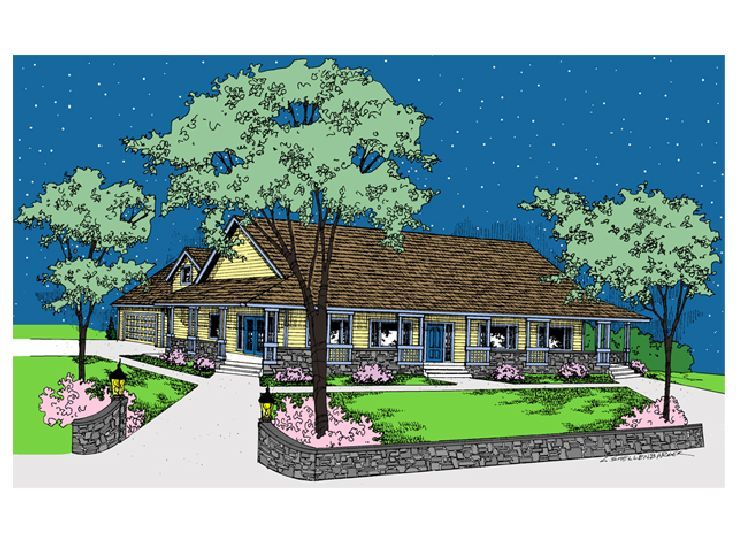 Country House Plan, 013H-0001
