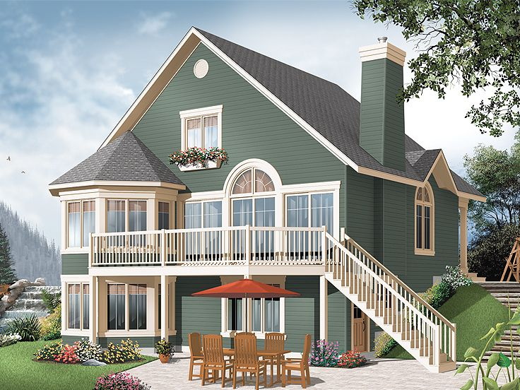 Plan 027h 0226 find unique house plans home plans and for Building a garage on a sloped lot