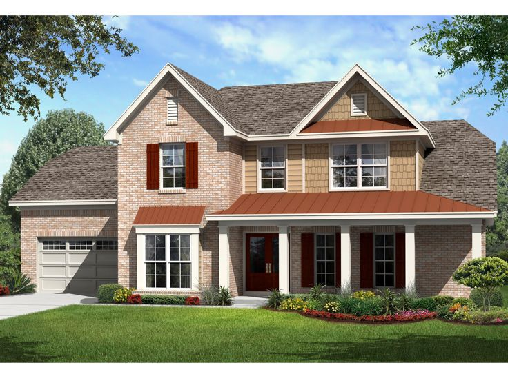 Two-Story House Design. 061H-0167