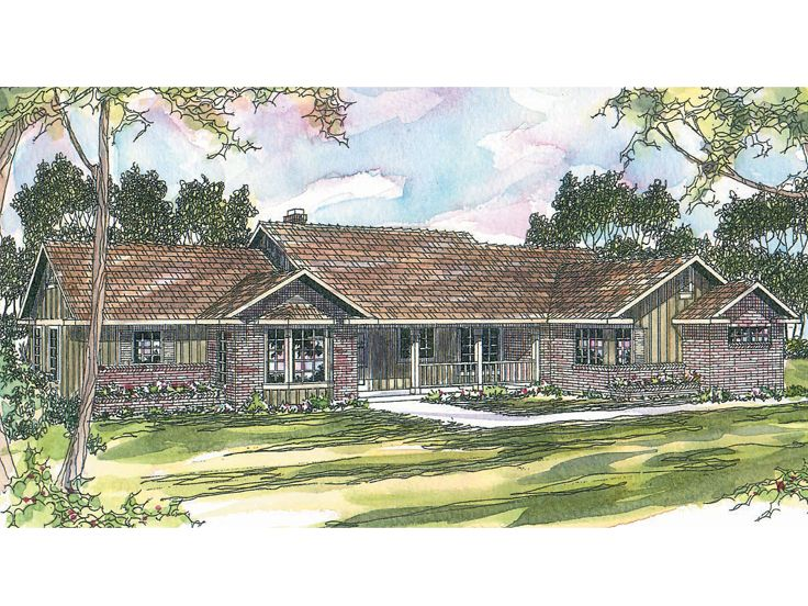 Ranch Home Plan, 051H-0021