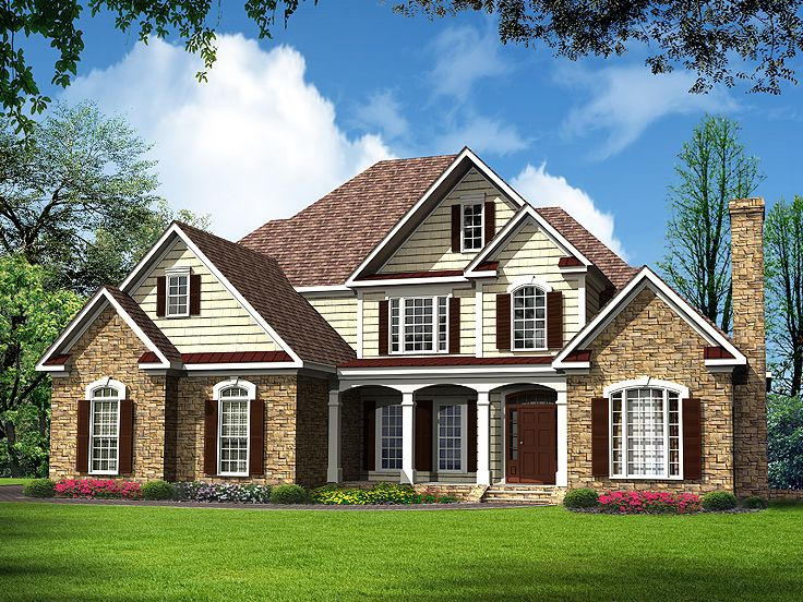 Traditional house plans luxurious two story traditional for Traditional 2 story house