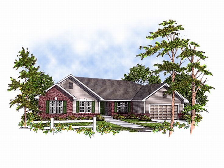 Ranch Home Plan, 020H-0010