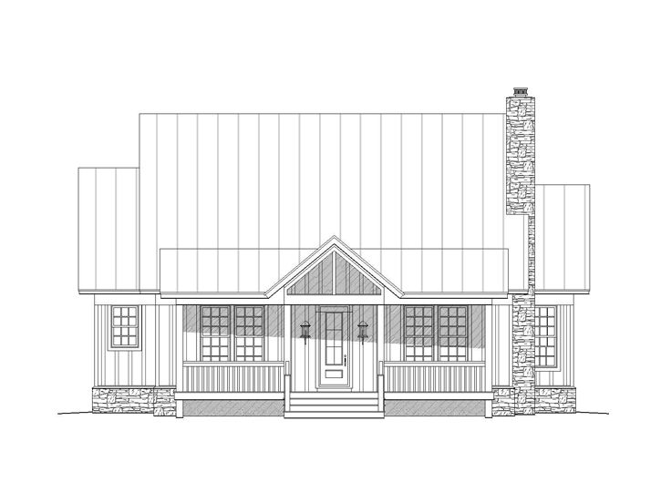 Country Home Plans Two Story Country House Plan 062h