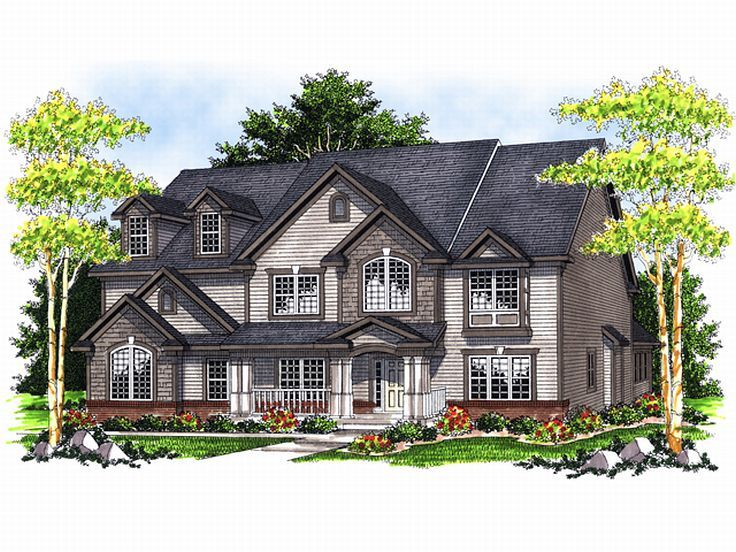 Two-Story Home Design, 020H-0112