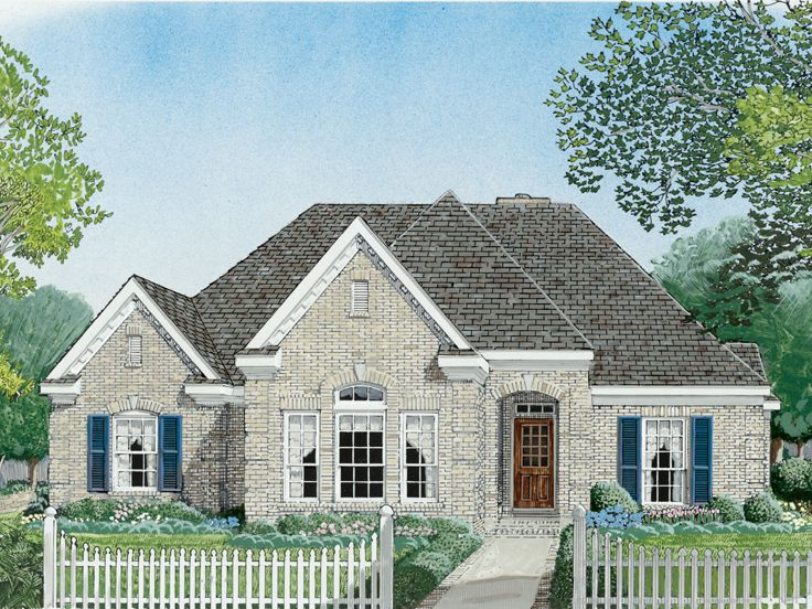 Ranch House Plan, 054H-0135