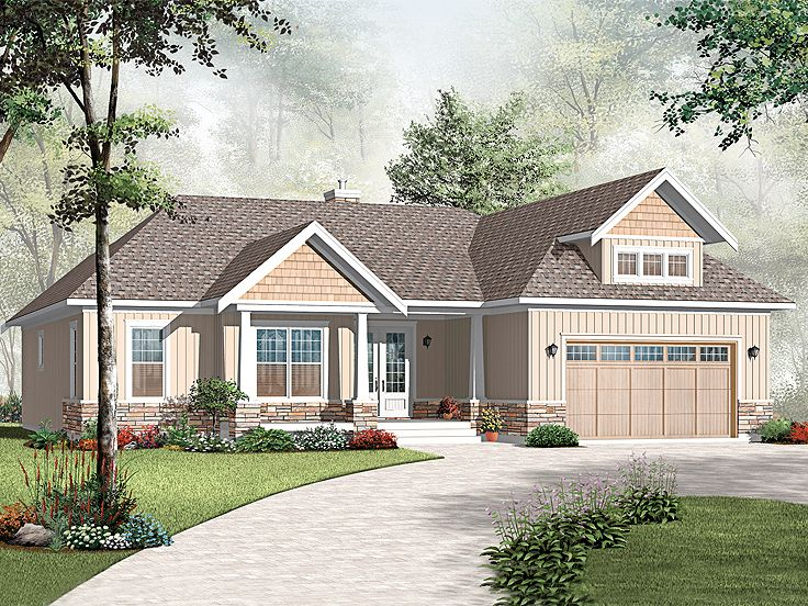 Bungalow House Plan, 027H-0244