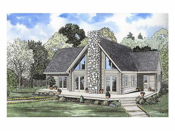 2 story log home plans