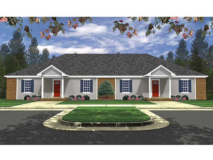 Duplex House Plan, 001M-0005